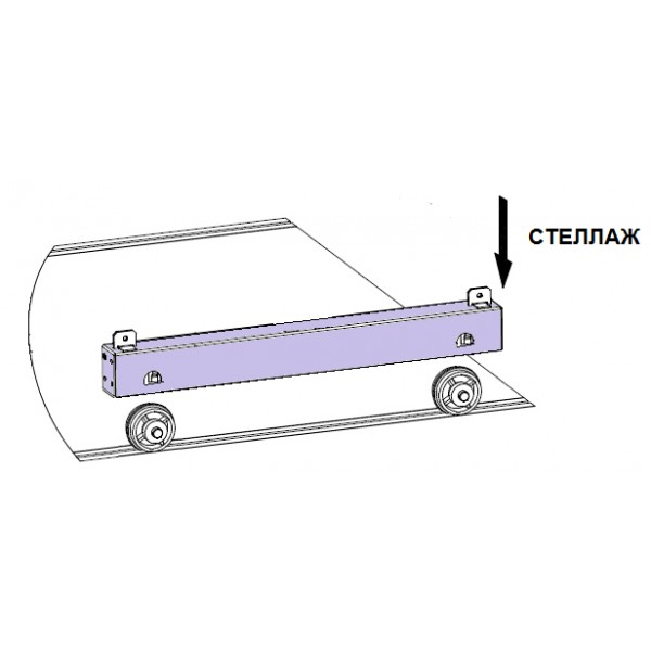 Стеллаж металлический Практик MS 200/70х40/5м