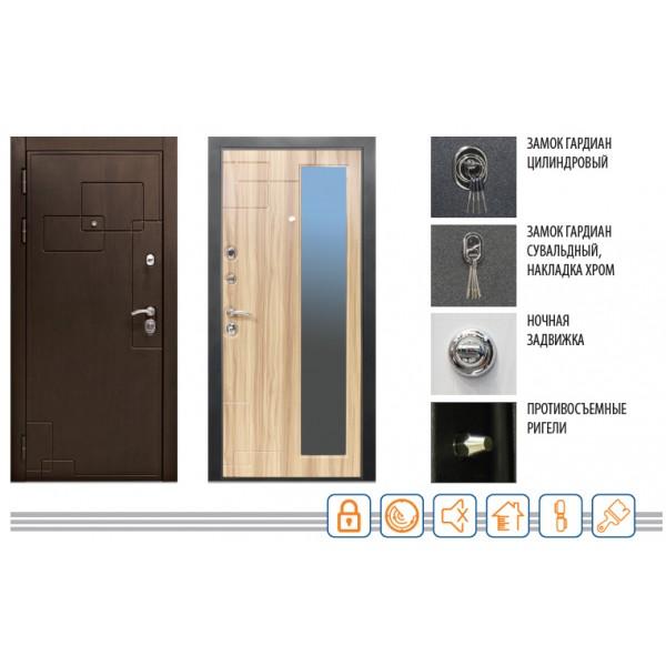 Дверь ДИПЛОМАТ 2060/980/104 R/L Valberg